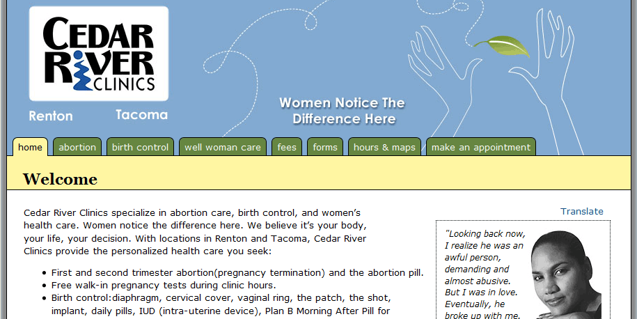Cedar River Clinics screenshot